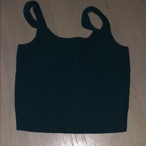 PACSUN worn once ribbed crop top dark green